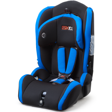 Baby car seat with blue-black cover