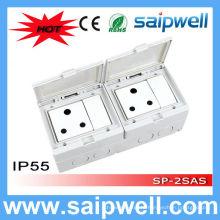 Saipwell Высококачественный электрический водонепроницаемый выключатель и розетка с утверждением CE для Южной Африки