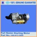 Excavadora PC55MR-2 YM129136-77011 Motor de arranque