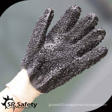 SRSAFETY black chemical pvc coated working glove