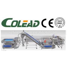 SUS304 areia de aço de tubos de lavagem esterilização máquina / Vegetais e frutas máquina de esterilização / vegetais linha de processamento