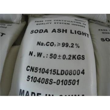 lumière de cendre de soude 99.2%