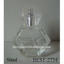 Bouteille de parfum de jet de verre de moule de 50ml