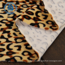 100% polyester thin animal printed polar fleece fabric