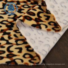 100% polyester thin animal printed polar fleece fabric