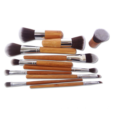 Bamboo Vegan Makeup Brush Set Pinceles para rubor en polvo
