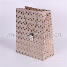 Glitter custom design foldable shopping paper bags