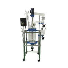 10L 20L 50L 100L Hot Sale Durable Double Layer Jacketed Glass Reactor for Chemistry Industry