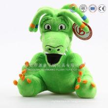 Atacado macio brinquedos de pelúcia de pelúcia dinossauro e dinossauro verde de pelúcia