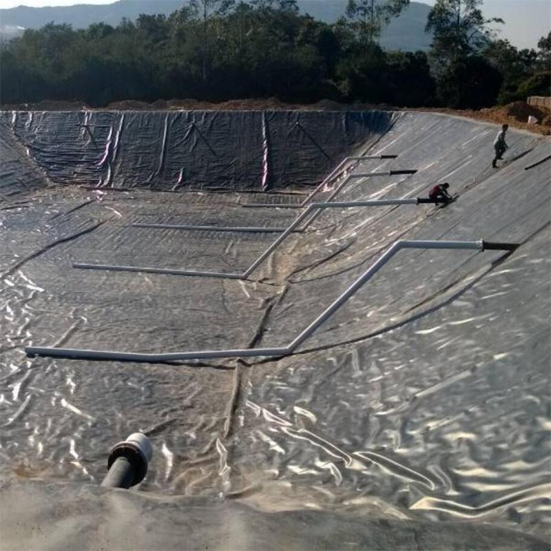 hdpe geomembrane construction of waste water