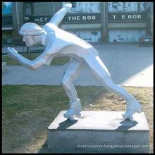 Figure stainless steel sculpture