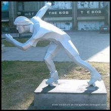 Figura escultura em aço inoxidável