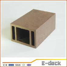Plástico de madera compuesto impermeable al aire libre WPC post para pérgola y Pabellón