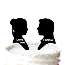 I Love U I Know Wedding Cake Topper