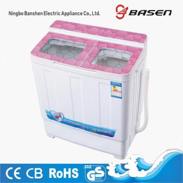 Couvercle en verre transparent rose Twin Tub 6KG Machine à laver
