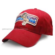 100% de algodón de fieltro Applique casquillo personalizado de ocio de béisbol (TMB6231)