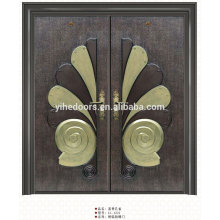 Main luxury double entry doors,stainless steel material entry door