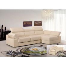 Sofá reclinável elétrico do sofá da chaise de couro genuíno (858)