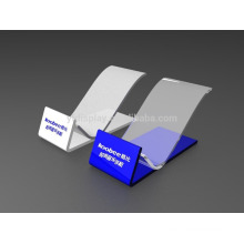 Clear acrylic display stand for Samsung cell phone
