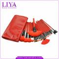 Красный профессиональный 24 штук синтетических волос модные косметические кисти комплект