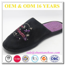 Promotional gifts embroidered princess indoor slipper for girl