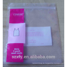 Zippock PE-Beutel mit Drucklogo für Verpackungskleidung