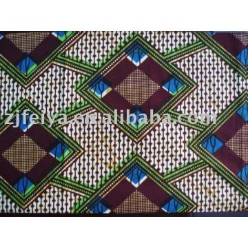 Wax printed fabric