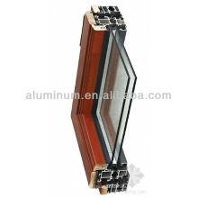 Wood aluminum profile sample