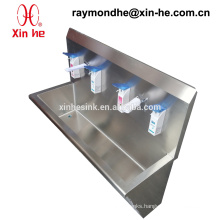 Medical Stainless Steel Washing Trough for Hospital Use, Stainless Steel Surgical Scrub Sink with Sensor Taps & Soap Dispenser
