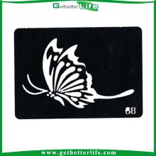 2014 Getbetterlife nouveau divers papillon à la mode pochoirs pour tatouage paillettes