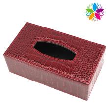 Модная кожаная прямоугольная коробка для ткани (ZJH076)