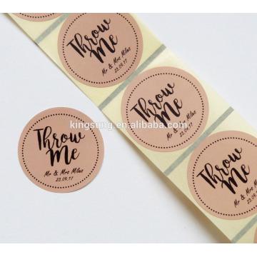 directamente de fábrica Etiqueta adhesiva de papel de embalaje Etiqueta adhesiva