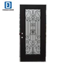 Fangda Premium Sicherheitstür Designs mit schmiedeeisernen Tür