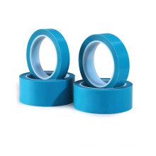 Free Sample Customized 0.06mm Thickness Polyester Blue Adhesive Refrigerator Holding Tape