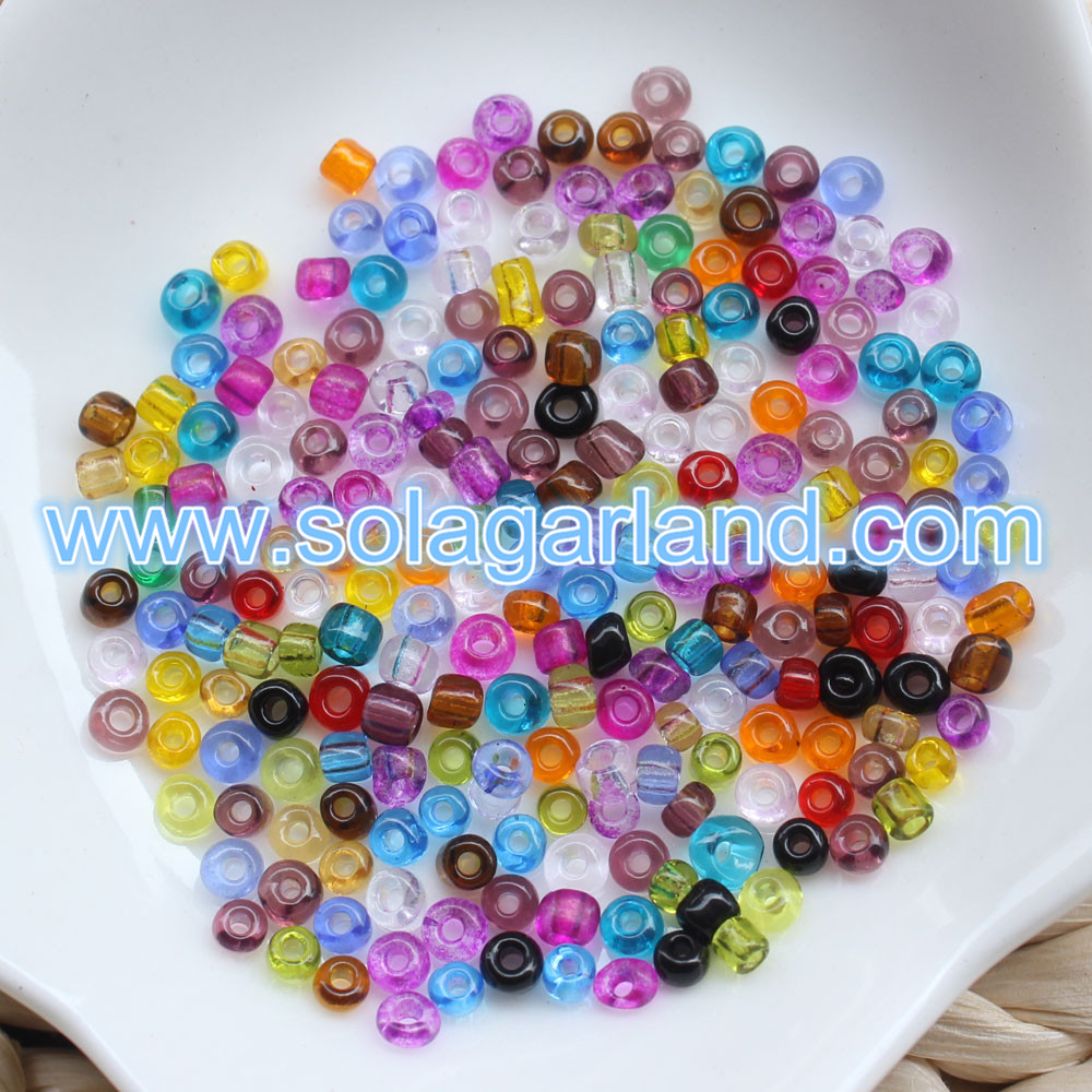 Clear Round Glass Beads