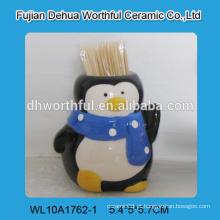 Pinguim moderno em forma de suporte de palito de cerâmica para atacado