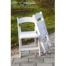 Cadeira de dobramento de casamento branco para festa
