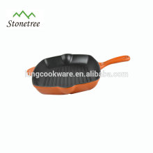 Rectangular Enamel Cast Iron Grill Pan with whole price