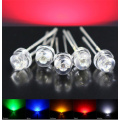 5 mm Straw Hat Red LED 620-625nm Sort Pin