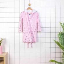 Peignoir 100% polyester à capuche pour enfants