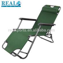 Camping Outdoor Metal Folding Lawn Sling Cadeira cadeira de gravidade Zero
