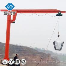 Columna montada de pie libre swing pilar manual pluma grúa