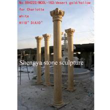 Columna hueca de la escultura de la piedra del oro del desierto (SY-C011)
