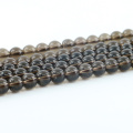 L-0259A Preço de fábrica Elegante Smoky Quartz Sintético Natural Gemstone Beads Strand Bulk Suprimentos
