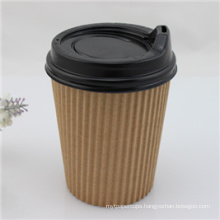 Disposable Coffee Paper Cup with Lid/Cover