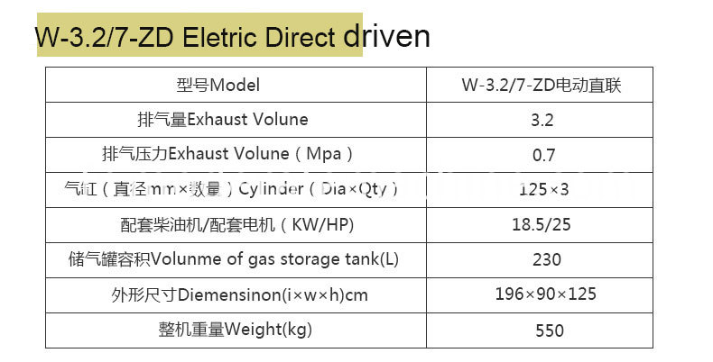 Mini Piston Air Compressor Eletric Direct Driven