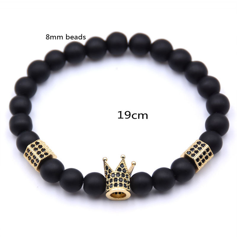 crown bead bracelet