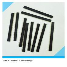 10 PCS 1X40 Pin 2.54mm Passo Reta Única Linha PCB Feminino Pin Header Connector
