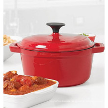 enamelware cast iron cookwares with silicon knob