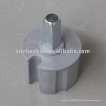 60 мм Квадратная пластиковая заглушка с металлической головкой для маркизы, маркизы, тента для тентов, тентов